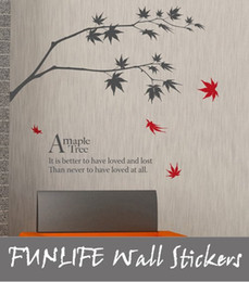 Wholesale Modern Air - [funlife]-1 piece wall sticker drop Shipping-Chinapost Air +Maple Tree Art Mural Wall Sticker Decal