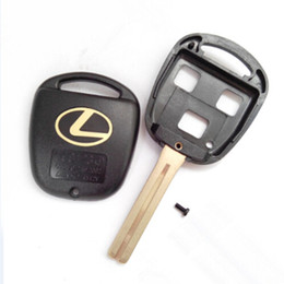 Wholesale Lexus Key Blanks - High quality car key blank for Lexus 3 button remote key shell with TOY48 short blade 20pcs lot free shipping