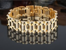 Wholesale Chain High Grade Steel - Free shipping Tyrant 18K gold 316L stainless steel jewelry imitation gold jewelry Men's bracelet high-grade titanium steel bangle jewelry