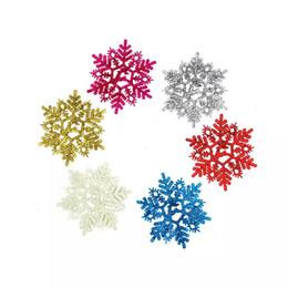 Wholesale Noel Christmas Ornament - Free shipping 6pcs Color snowflake Christmas tree ornaments new year enfeites de natal beautiful noel christmas