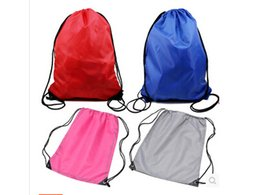 Wholesale Drawstring Backpack Green - Pure sports for men and women backpack portable collapsible container drawstring pouch bag Beach Bag 20PCS MIX