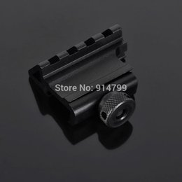 Wholesale Guide Rails - Wholesale-45 degrees flashlight torch Guide sight rail mount support bracket , light accessories holder