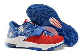 Wholesale Kd Prices - New Style Kevin Durant KD 7 Basketball Shoes KD7 Sports Shoe Athletic Running shoes Best price Quality With Standout Mid sole Size 40-46