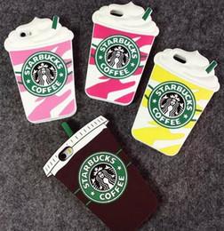 Прочный чехол для сотового телефона онлайн-3D мультфильм Starbuck кофейная чашка для IPhone 4s 5s 6 плюс сотовый телефон случаях кремния Starbuck кофейная чашка прочный мобильный телефон случае