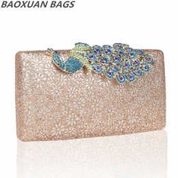 Wholesale Champagne Finger Clutch - Wholesale-Hot New 2015 Exquisite Handmade Beaded Pearl Evening Bag Clutch Crystal Diamond Finger Ring Purse Party Wedding Handbags 20062