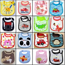 Wholesale Embroidered Burp Cloths - 2015 Baby Boys Bibs 3 Layers Top Quality Baby Girl's Saliva Towels Cartoon Animal Infant Burp Cloths embroidered pinafore