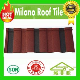 Wholesale Roofing Material Tile - building material high quality hot sale milano type stone coated metal roof tile