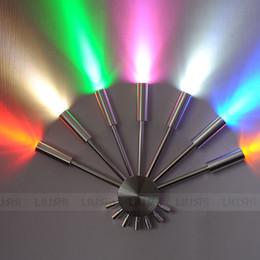 Wholesale G4 Fan - Modern Colorful LED Aluminum Tube Fan-Shaped Bedroom Bedsides wall lights Creative Mirror Front Corridor Balcony Wall Sconces