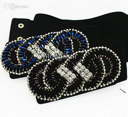 Wholesale Cummerbunds Beads - Wholesale-Fashion female cintos femininos handmade crystal beads buckle wide elastic belt cummerbund for woamn body feminin