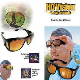 Wholesale Hd Vision Wrap Around - Wholesale-HD Vision Driving Sunglasses Wrap Around Glasses Unisex Anti Glare UV Protection