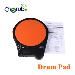 Wholesale Electronic Multifunction Counter - Cherub DP-950 Digital Electric Electronic Drum Pad Metronome Counter for Training Practice Multifunction