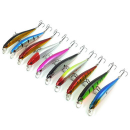 Wholesale trout minnow lures - 10pcs  Set Wobblers Minnow 9cm 7 .5g Floating Artificial Fishing Baits Hard Lure Swimbait Trout Fishing Lures Crankbait Minnow