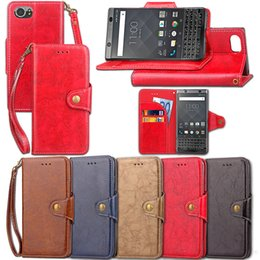 Wholesale Blackberry Case Magnet - Retro PU Leather Flip Magnet Wallet Stand Card Holder Protective Case Cover for BlackBerry Keyone