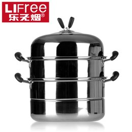 Wholesale Double layer butterfly steamer quality stainless steel floor steamer cooking pots and pans