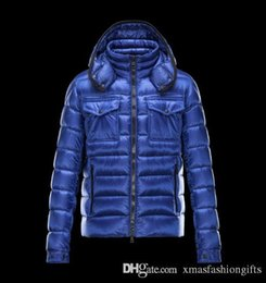Wholesale Fashion Brands Online - Fashion Winter Down Jacket Men Warm Brand Designer Monclair Thick Mon Hooded Jackets for Man Anorak Plus Size Cool Coats Online