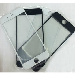 Wholesale Touch Screen Phone Replacement Glass - For 4.7inch 5.5inch iphone 6 Front Glass Lens Outer Touch Glass Screen Replacement Part Cell Phone LCD DHL Free