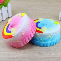 Wholesale Ocean Roses - Squishy Blue Pink Ocean Whale Millie Cake Jumbo Kawaii Cute Charm Squishies Super Slow Rising Scented Bread Bun Kid Toy Gift Fun