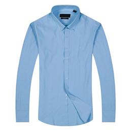 Polos slim fit para hombre online-Nuevo estilo de regalo Moda Hombre de lujo Camisas de manga larga para hombre Camisas de vestir Hombre Camisa de algodón Camisa slim fit polo de alta calidad Chemise Homme