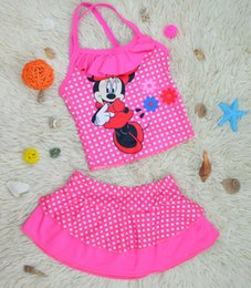Wholesale Blue Pink Swimsuit - Summer Baby Swimsuit Bikini Infantil Swim Bathing Suit Skirt Costume Swimwear Girls Kids Dot Swimwear