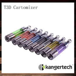 Wholesale Dual Coils Cartomizer - Kanger T3D Clear Cartomizer Kangertech T3D Colorful Clearomizer With Changeable Rebuidable Dual Coils