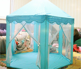 Wholesale Princess Playhouses - 2017 INS Children Portable Toy Tents Princess Castle Play Game Tent Activity Fairy House Fun Indoor Outdoor Sport Playhouse Toy Kids Gifts