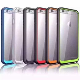 Wholesale Iphone 5s Tpu Pc Clear - Supcase Case Hybrid TPU Bumper Clear Transparent Hard PC Cover for iPhone 5S 6 plus Samsung Galaxy S6 edge plus Note 5 US02
