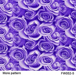 Wholesale Water Transfer Film Patterns - FW052-5 10 square Width 0.5m Purple rose flower patterns water transfer printing film