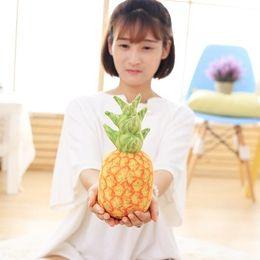 Wholesale Pineapple Decor - Wholesale- 1pcs 25cm Fresh Fruit Style Home Decor Cushion Pillows Cute Plush Stuff Doll pineapple Throw Pillows