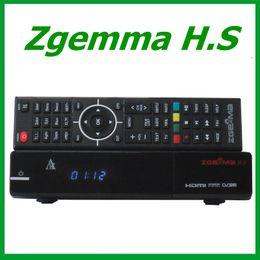 Wholesale Dual Core Dvb - 5pcs Original ZGEMMA H.S DVB-S2 Tuner Dual Core FTA Satellite Receiver Enigma 2 Linux support TF card