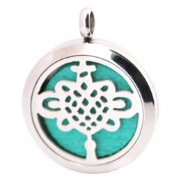Wholesale Lantern Oil - Lantern Stainless Steel Necklace Pendant Aroma 30mm Locket Essential Diffuser Oils Lockets Free 50pcs Felt Pads As Gift