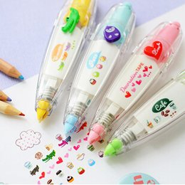 Wholesale Tape For Material - DIY Cute Cartoon Kawaii Colorful Correction Tape School Supplies Material For Kids Gift Korean Stationery G1232