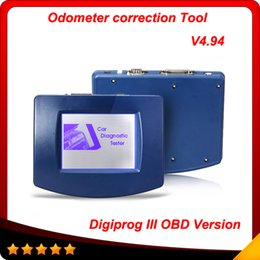 Wholesale Obd2 Correction - 2016 New DIGIPROG III Digiprog 3 obd version with OBD2 ST01 ST04 Cable Digiprog3 with Full Software multi-language free shipping