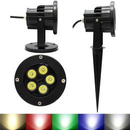 Wholesale Warm White Led Flood 12v - LED Flood Spotlight Garden Light Outdoor Waterproof IP67 6W 10W Landscape Wall Yard Path Pond LED Lawn Lamp With Rod Base 110V 220V 12V