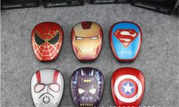Wholesale Heroes Usb - New Arrival Cartoon external Battery emergency Iron Man 12000mAh USB Power Bank Charger Power Bank Marvel Heroes Captain America Superman