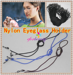 Wholesale Cord Holder Wholesale - Eyeglass Holder Cord Sunglass Glasses Eyewear Neck Strap Nylon New Hot Sale More Colors To Choose 50pcs