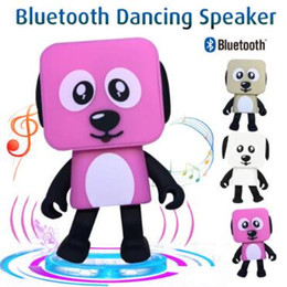 Wholesale Electronic Toy Robots - Portable Wireless Speaker Cute Bluetooth Speaker Dance Robot Dog Bluetooth Wireless Smart Dance Robot Dog Electronic Toys CCA8368 100pcs