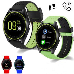 Wholesale Gt Smart - Smart Watch V9 DZ09 clock With Camera Bluetooth Connected SIM Card Smartwatch For IOS Android Phone PK gt 08 dz 09 Sport watch