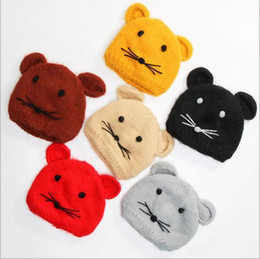 Wholesale Pullover Child Female - New style autumn and winter baby hat mouse plus pullover cap personality male and female children tide dome edge curl cap six colors