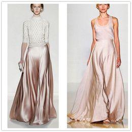 95892ff23ef Summer Maxi Skirts Pants Womens High Waist Solid Plus Size XXS - 7XL 2017 Woman  Long Satin Wide Leg Pant Skirt Vintage