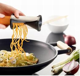 Wholesale Kitchen Julienne - New 2016 GEFU Spirell Vegetable Spiral Shred Slicer Cutter Graters Julienne Stainless Steel Blades Peeler Kitchen Accessories Tools