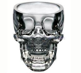 Wholesale Decoration Mug - 2016 Creative Skull Cup Crystal Skull Cup Home Bar Drinking Ware Crystal Skull Head Vodka Whiskey Shot Glass Cup SKull Mugs Free Shipping