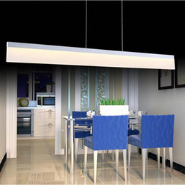 Wholesale Livingroom Decor - Super bright New modern pendant lights lamp for dining room bedroom livingroom decor lighting fixture 1200mm acrylic lustres desala