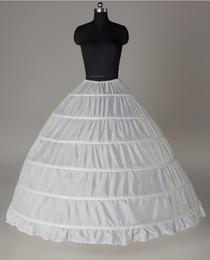 Wholesale Underwear Balls - 6 Hoop Petticoat For Ball Gown Dress Wedding Accessories Quinceanera Dresses Red Black White 110-120cm Diameter Underwear Crinoline 2018