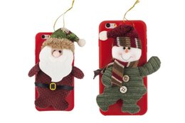 Wholesale Iphone Snowman - 2015 New Christmas Gift Gifts Design fashion Phone Shell Snowman Case Santa Claus Back Cover For Apple iPhone 6 6Plus 6s Plus 5s
