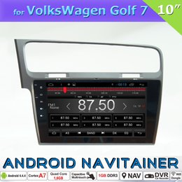Wholesale Gps Car Navigation Vw - 2 Din Car Radio Android Quad Core VW Golf 7 with GPS Glonass Navigation TV OBD Stereo Car DVD Player