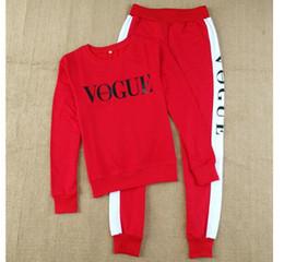 Wholesale Auto Pants - New Vogue Women 2 piece clothing set casual fashion Vogue sweatshirt+ long pants tracksuit for women hoodie suit