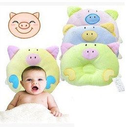 Wholesale Baby Positioning - 2017 New Baby cartoon pig shape children's Pillows baby pillow baby sleep sleeping position correction piggy cotton velvet pillow