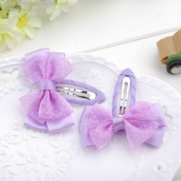 Wholesale Lace Butterfly Hair Accessories - Butterfly clamp hair clip Children's kids baby headband barrettes Hair Accessories wholesale Factory direct sales 24pcs lot