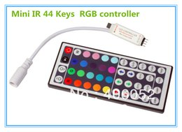 Wholesale Mini Led Modules - 4pcs lot mini 44key ir rgb remote controller DC5V 12v for 5050 3528 led strip light and RGB LED module
