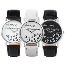 Wholesale Late Glass - 2016 New Style Whatever I'm late anyway Irregular Figure Women Wristwatch Fashion Men Watches Quartz Watch
